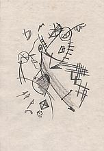 KURT SCHWITTERS - Charcoal drawing