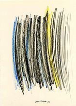 HANS HARTUNG - Crayon drawing on paper