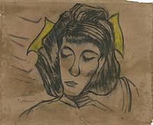 ERICH HECKEL - Mixed media (pastel, charcoal, pencil) on paper
