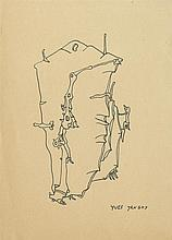 YVES TANGUY - Pen and ink drawing