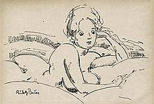 RUDOLF BAUER - Pen and ink drawing on paper
