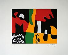 STUART DAVIS - Color silkscreen