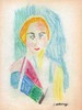 ROBERT DELAUNAY - Crayon and colored pencil drawing, Robert Delaunay, $8,000