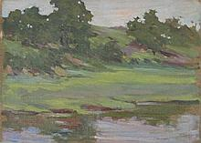 ARTHUR WESLEY DOW [by or attrib] - Oil on canvas mounted on board