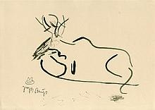 JOSEPH BEUYS - Pen and ink drawing on paper