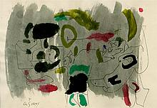ARSHILE GORKY - Watercolor and ink drawing