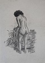 RAPHAEL SOYER - Charcoal on paper