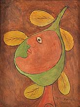 VICTOR BRAUNER [by or attrib] - Oil on canvasboard