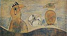 MAX ERNST - Color lithograph