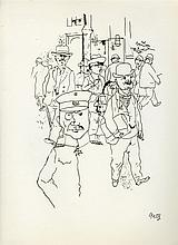 GEORGE GROSZ - Pen and ink on paper