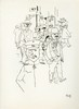 GEORGE GROSZ - Pen and ink on paper, George Grosz, $8,000