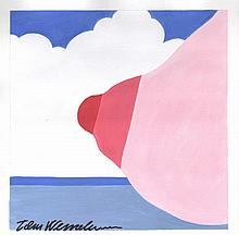 TOM WESSELMANN [by or attrib] - Acrylic on paper