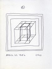 SOL LEWITT - Pen and ink drawing on paper