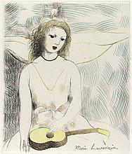 MARIE LAURENCIN - Original color etching