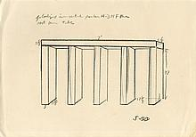 DONALD JUDD [after] - Pencil drawing on paper