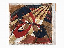 Lill Tschudi, In the Circus, linoleum cut, 1932