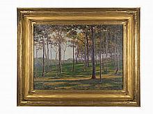 Edward Herbert Barnard, Oil on canvas, 'Chatham Locust Forest'