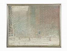 Johann Berthelsen, Oil on canvas, 'Gramercy Park'