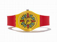 Swatch by Keith Haring, Modele Avec Personnages, c.1985