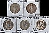 U.S. Halves 1935,'38,'48,'49 and '63-D XF to GEM B