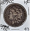 1879-CC Morgan Dollar VF Nice Color