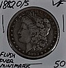 1882-O/S Morgan Dollar VF Flush Overmintmark