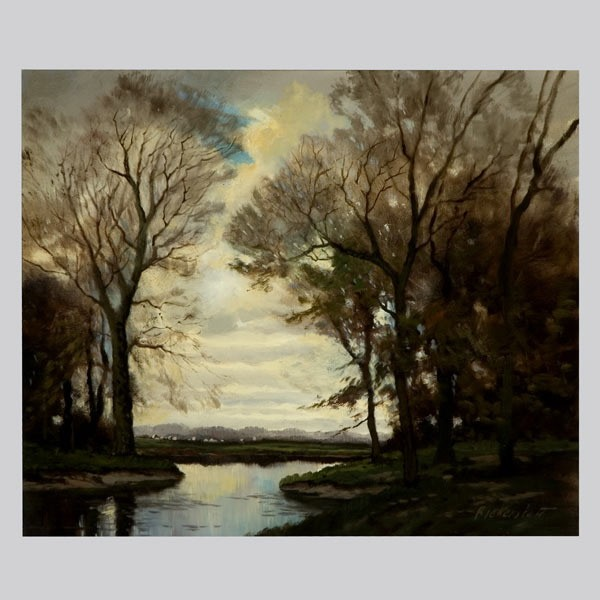 George Bickerstaff, Winter Landscape Oil