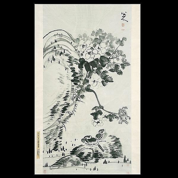 Chinese ink painting. Zhu Da (1626 - 1705)