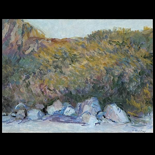 Helena Dunlap, California Coastal Art Oil Signed.