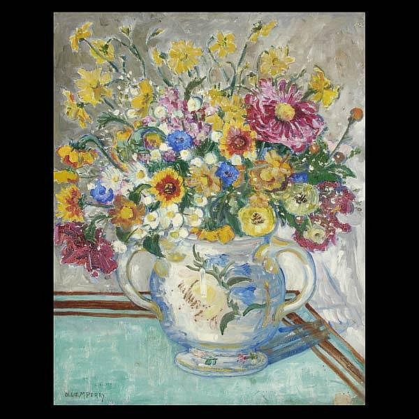 Ollie M Perry. Floral still life
