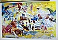 Game Of The XXII Olympiad '76 Double Signed By LeRoy Neiman AR200