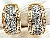 1.40CT DIAMONDS THREE ROWED SEMI HOOP BEAD SET CHANNEL