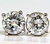 1.30CT BRILLIANT FULL CUT CLASSIC DIAMOND STUD EARRINGS