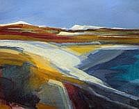 St. Austell Clay Pits - acrylic - signed Size: 15
