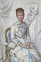 Charles Chaplin - 'Portrait of a Woman in White with Blue Trim'