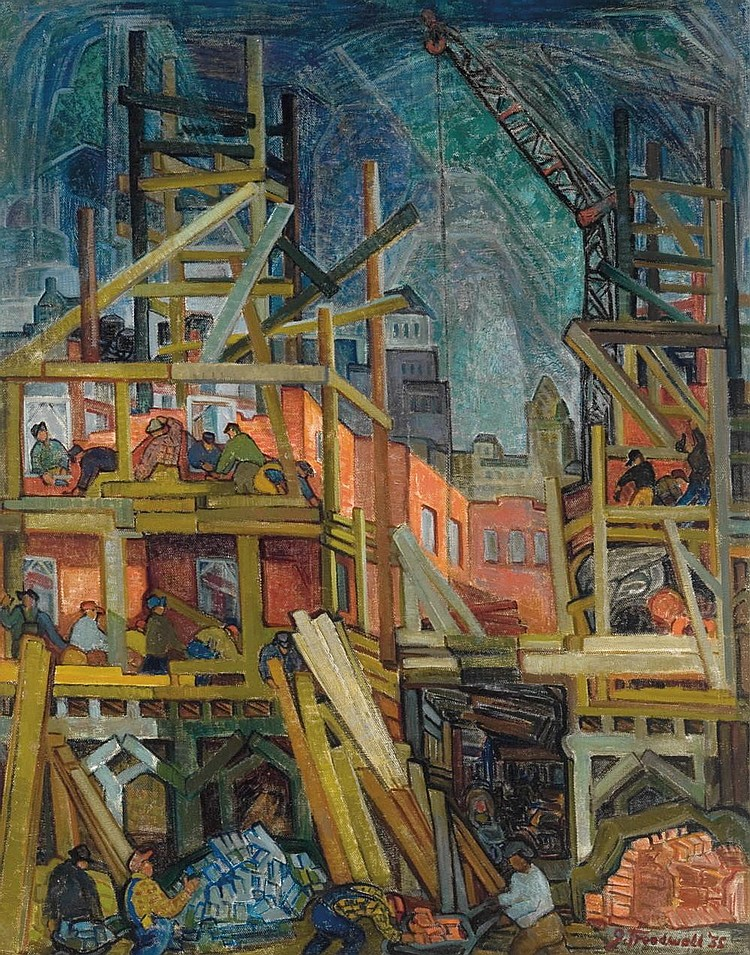 Grace Treadwell - 'Downtown Construction, 1935'
