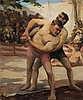 Gaston Balande - Wrestlers at the Fair
