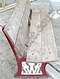 Railway Interest: a 1950s cast iron bench, the red