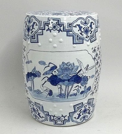 A Chinese porcelain garden seat of barrel form