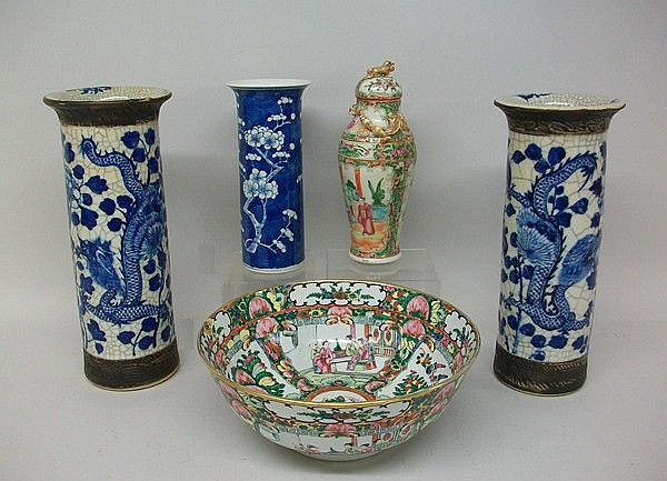 A pair of Chinese, 19th century, porcelain