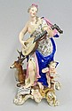 A Meissen porcelain allegorical figure of