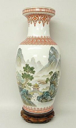 A Chinese porcelain vase, 20th century, of