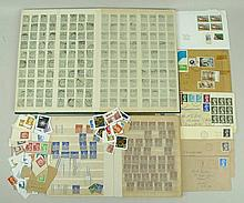 A collection of stamps, used and unused including