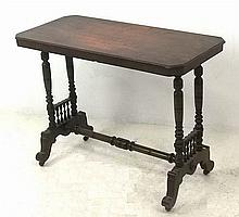 A 19th century occasional table, the rectangular