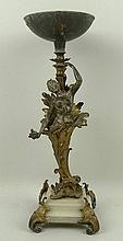 A French, fin de siecle, spelter and brass figural