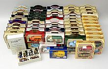 A quantity of boxed Lledo Days Gone By model cars.