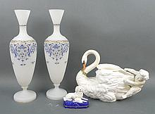 A Continental porcelain figure group modelled as