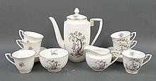 A Royal Worcester porcelain part coffee service