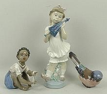 A Lladro porcelain figure modelled as a girl with