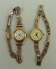 A Rotary lady's 9ct gold circular cased wristwatch